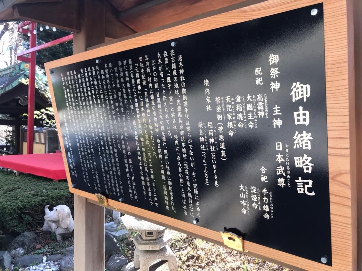 居木神社の由緒