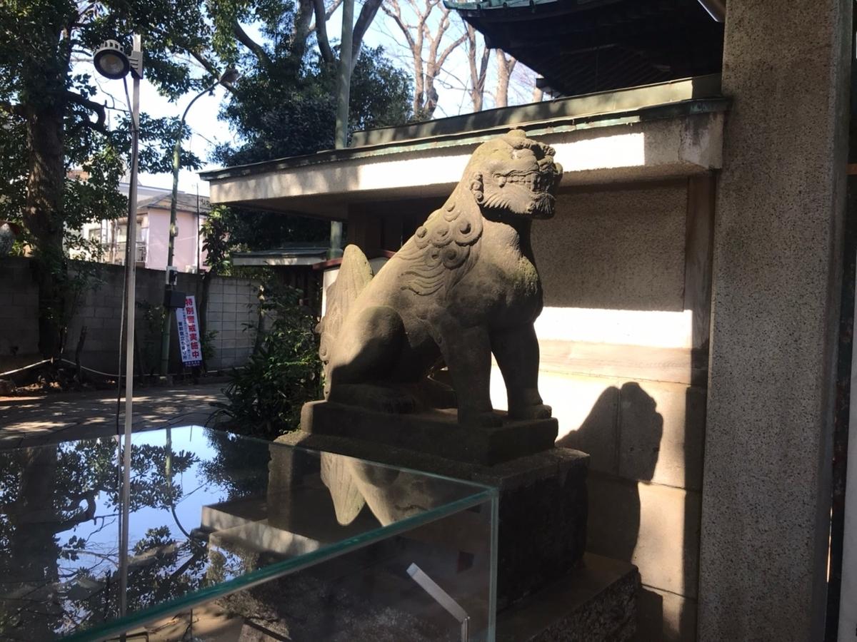 戸越八幡神社の狛犬