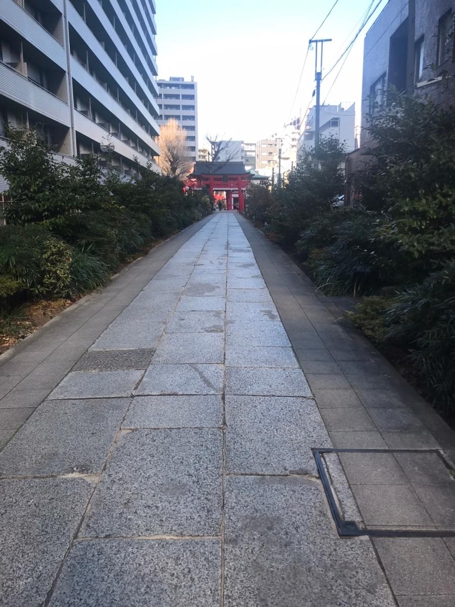 成子天神社の参道