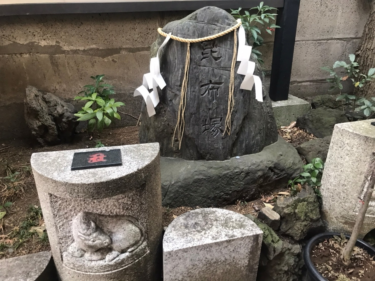 築地 波除稲荷神社の昆布塚