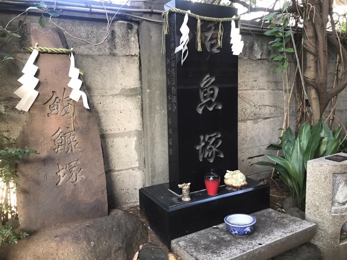 波除稲荷神社の活魚塚・鮟鱇(あんこう)塚