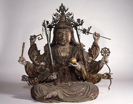 木造彩色弁財天坐像(江島神社)