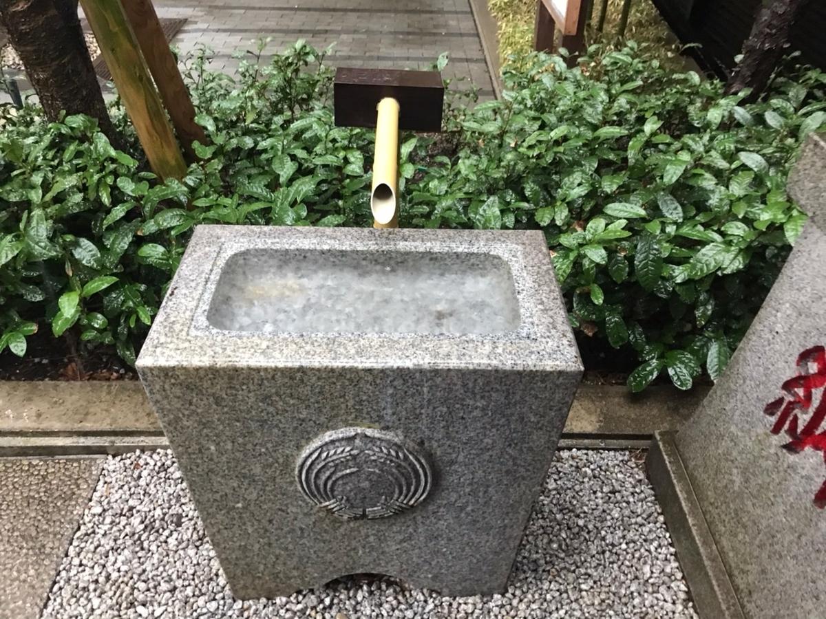 茶ノ木神社の手水舎(てみずや)
