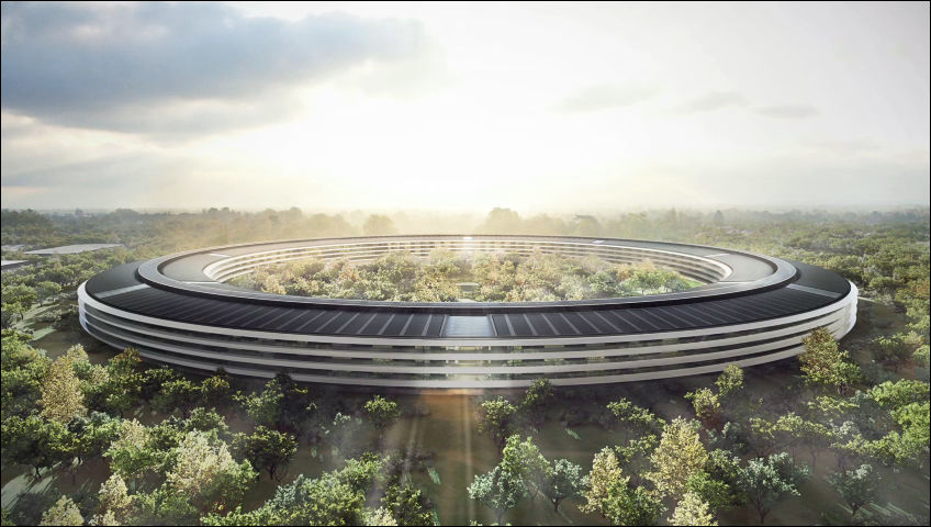Appleが宇宙船型新社屋