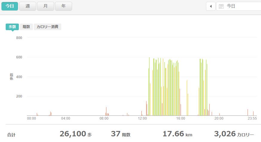 fitbitログより 運動データ2021年5月15日