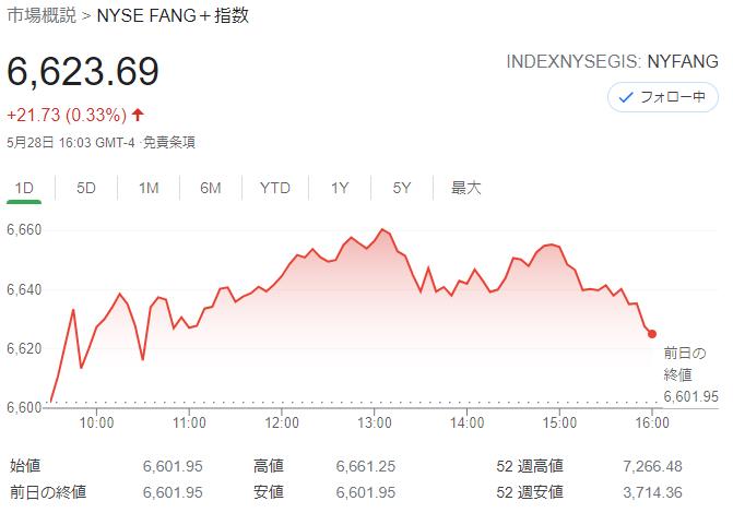 FANG+index 2021年5月28日