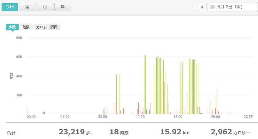 fitbitログより 体重データ2021年6月2日