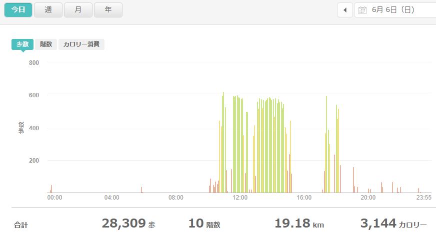 fitbitログより 体重データ2021年6月6日