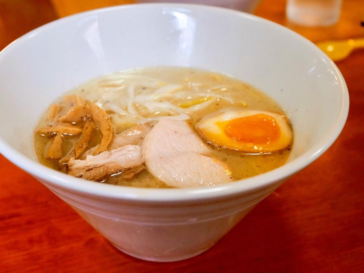【江差町】地元のお店を食べて応援、こってり塩ラーメン/麺や壱