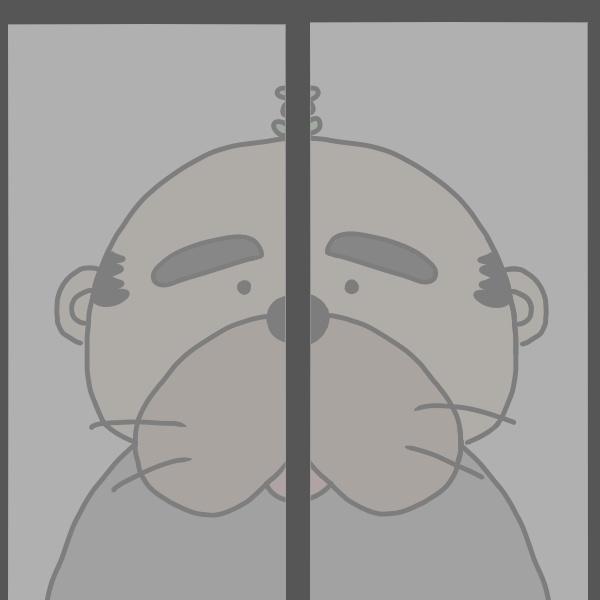 絵が下手な窓の中おじさん