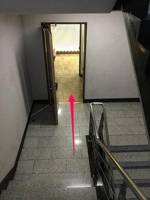狎鴎亭両替所までの道なりを矢印を使って説明6