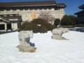 雪の東京国立博物館 2014年(羊石像)