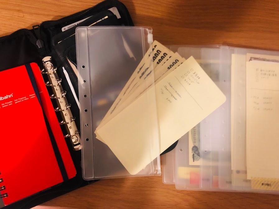 無印パスポートケースの封筒積立