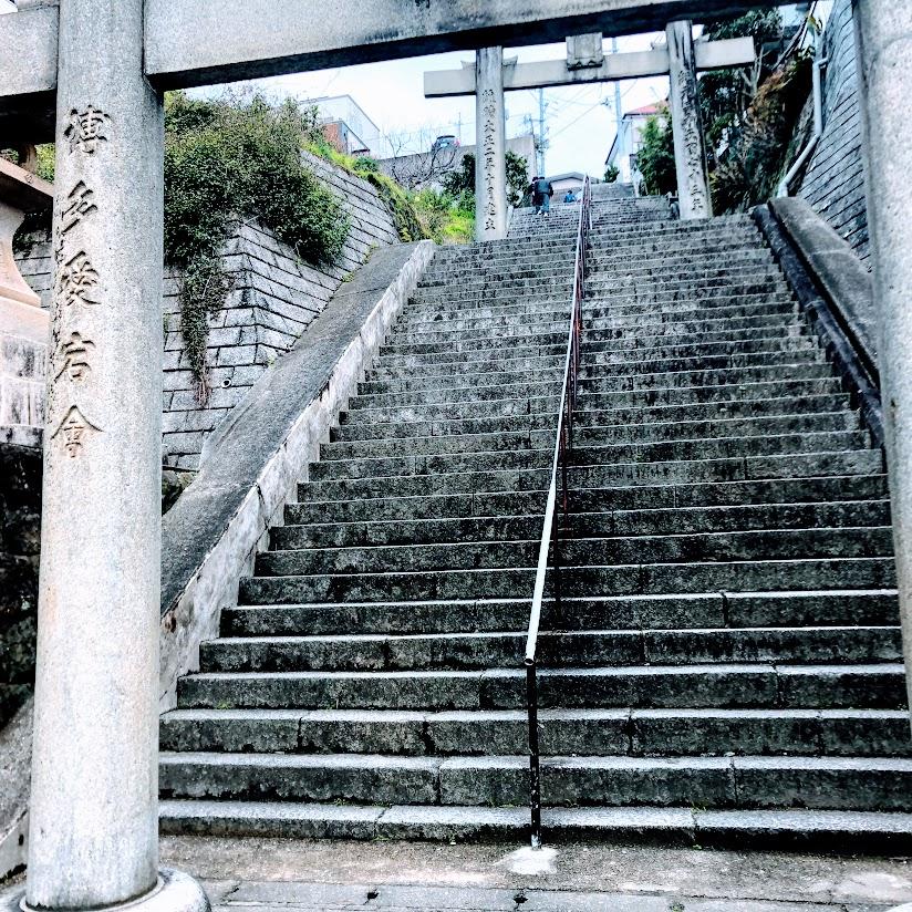 福岡愛宕神社入り口