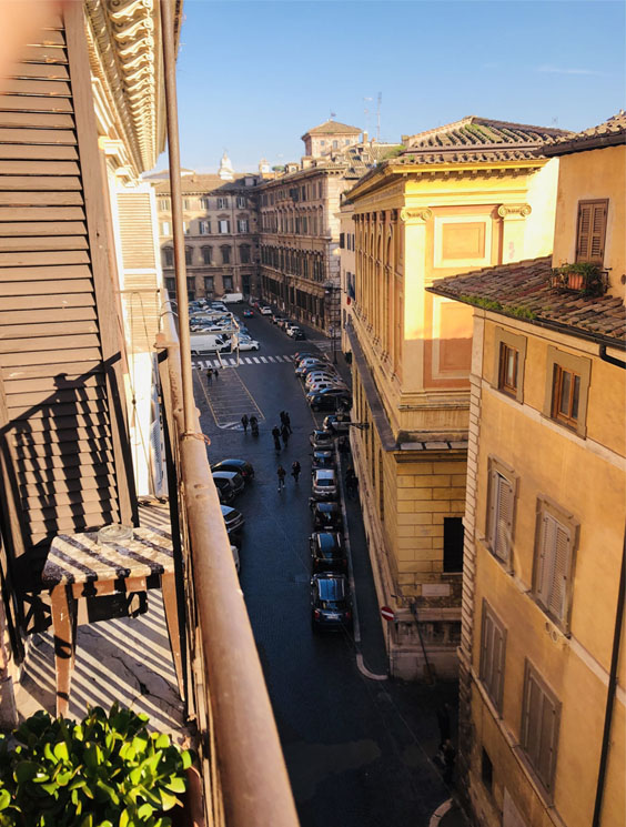ローマの街並みホテルから