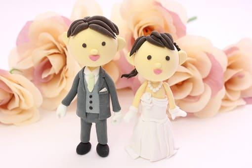 結婚式の新郎新婦 素敵な結婚式