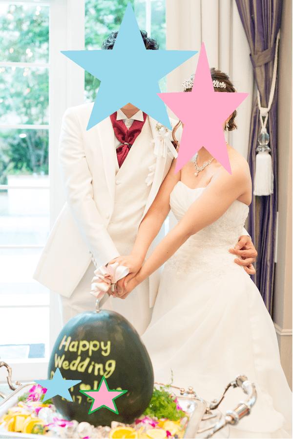 結婚式 スイカ割り スイカ入刀
