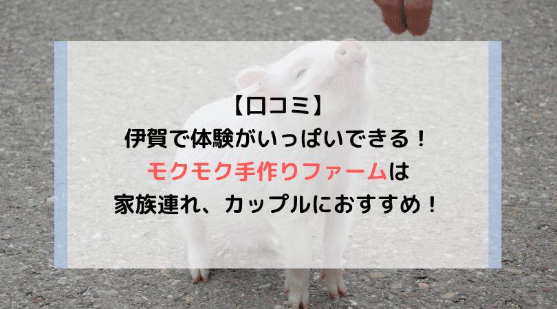 【口コミ】伊賀で体験がいっぱいできる!モクモク手作りファームは家族連れ、カップルにおすすめ!