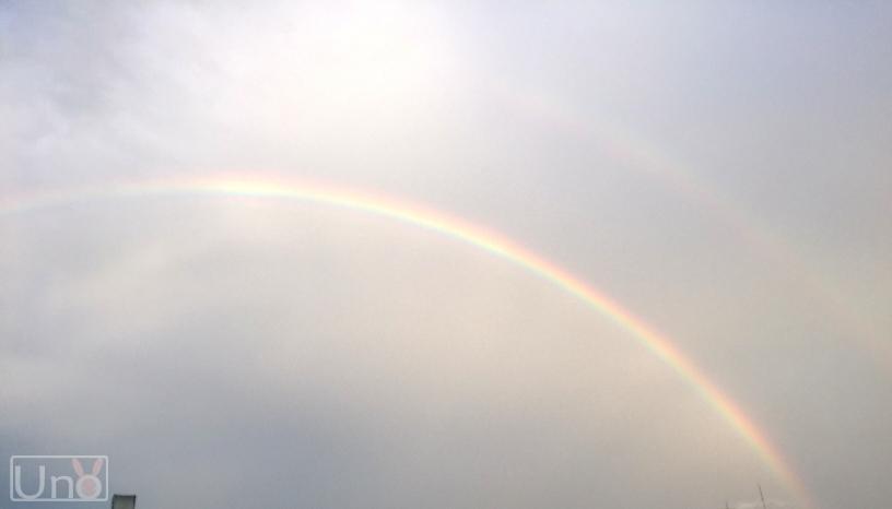 二重虹の写真