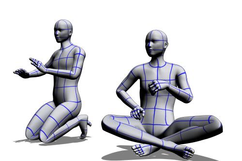 クリスタ 3Dデッサン人形