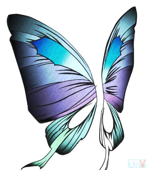 蝶の羽 女の子のイラスト