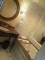 ホテルの室内。バスルームもゴージャス