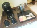 ホテルの室内。コーヒーなどのコーナー