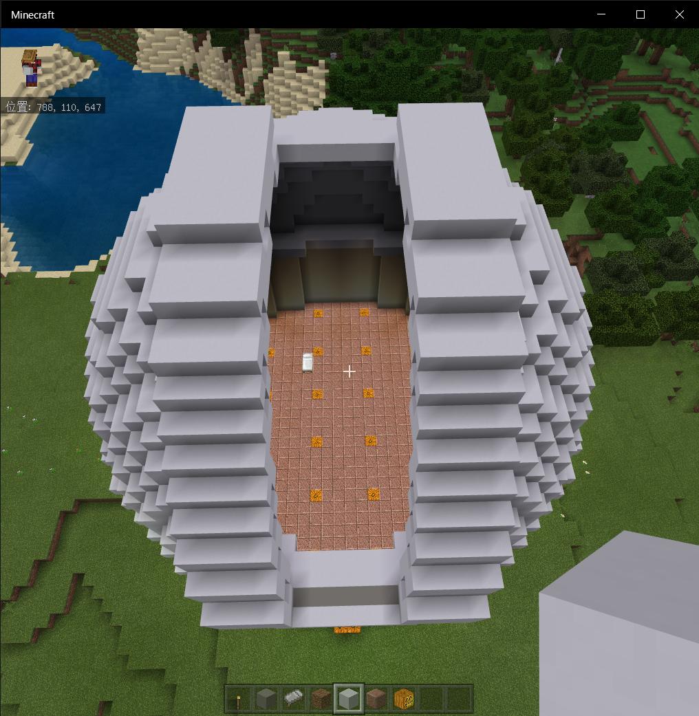 天文台の完成した様子