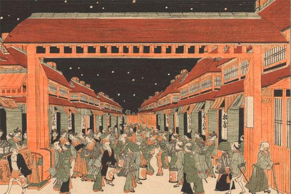 江戸名所百景 新吉原の図 アムステルダム国立美術館 Europeana