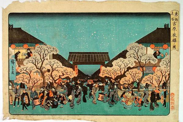 吉原夜桜ノ図 ストックホルムの博物館