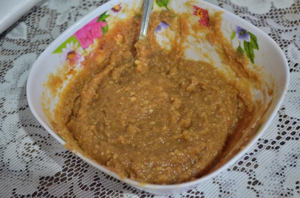 五平餅の味噌タレ