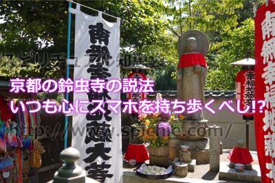 京都の鈴虫寺の説法