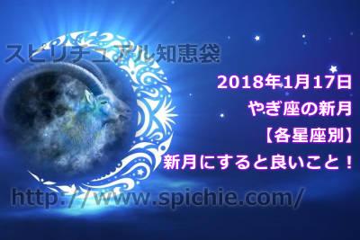 【2018年1月17日やぎ座の新月】各星座別に新月にすると良いことをチェック!