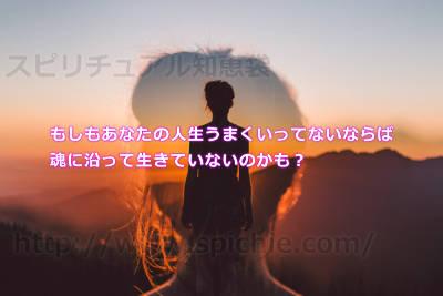 もしもあなたの人生うまくいってないならば魂に沿って生きていないのかも?