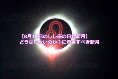 【8月11日のしし座の日食新月】どうなりたいのか?に着目すべき新月