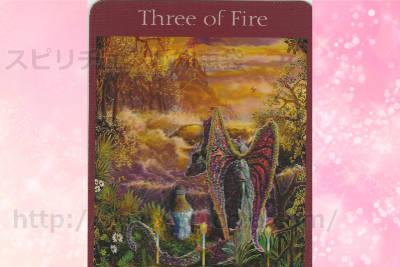 真ん中のカードを選んだあなたへのメッセージ【3 OF FIRE】