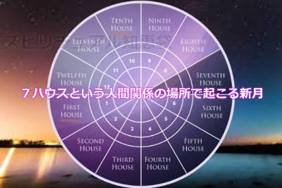 7ハウスという人間関係の場所で起こる新月