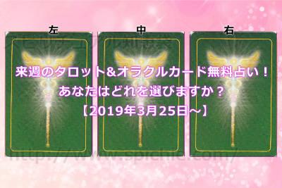 今週のタロット&オラクルカード無料占い!あなたはどれを選びますか?【2019年3月25日〜】