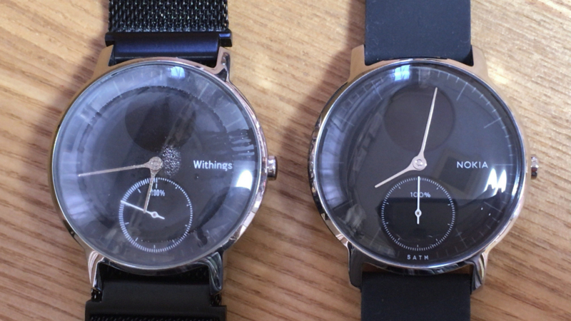 左が旧Withings社製、右が新Nokia社製Steel HR
