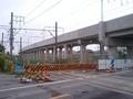駅みなみの 旧ふみきりと 平行する 新高架