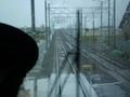 西尾方面から きたへ/これから 高架を かけあがり 桜井駅へ