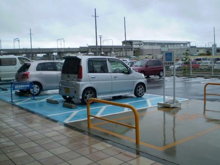 アピタ駐車場に 到着し 桜井駅を ふりかえる