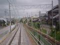 まあじき 高架を おりきる/北行/みぎは 旧線路