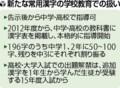あらたな 常用 漢字の 学校 教育での あつかい (よみうり)
