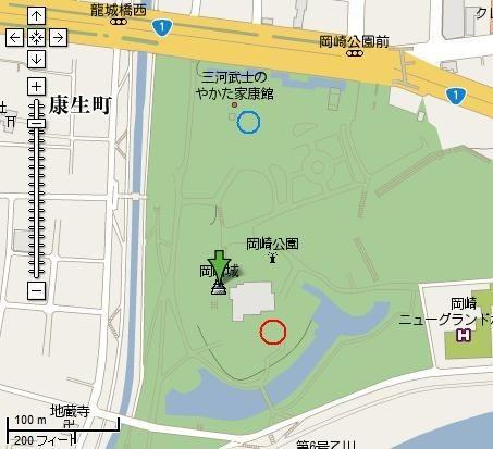 岡崎城 位置図