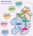 安城市の 都市 計画図
