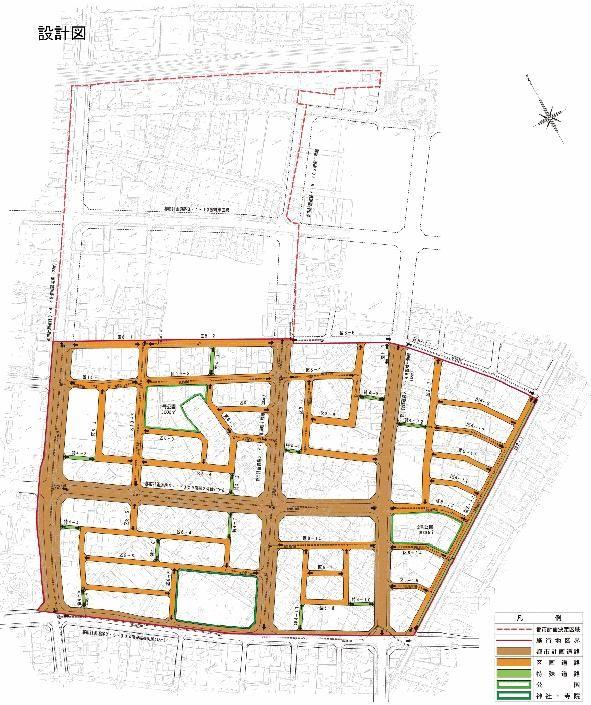 南明治土地区画整理 設計図 591 × 705
