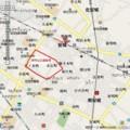 南明治土地区画整理 位置図 555 × 557