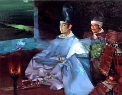源義経公 最期の 肖像 『永訣の月』 (村山直儀 2002年)