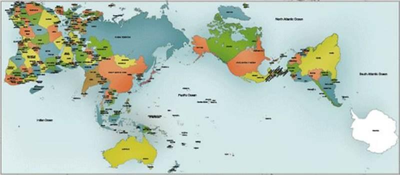オーサグラフ 世界 地図 800-350
